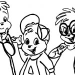 Alvin And Chipmunks Kid Coloring Page