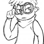 Alvin And Chipmunks Sketch Boy Coloring Page