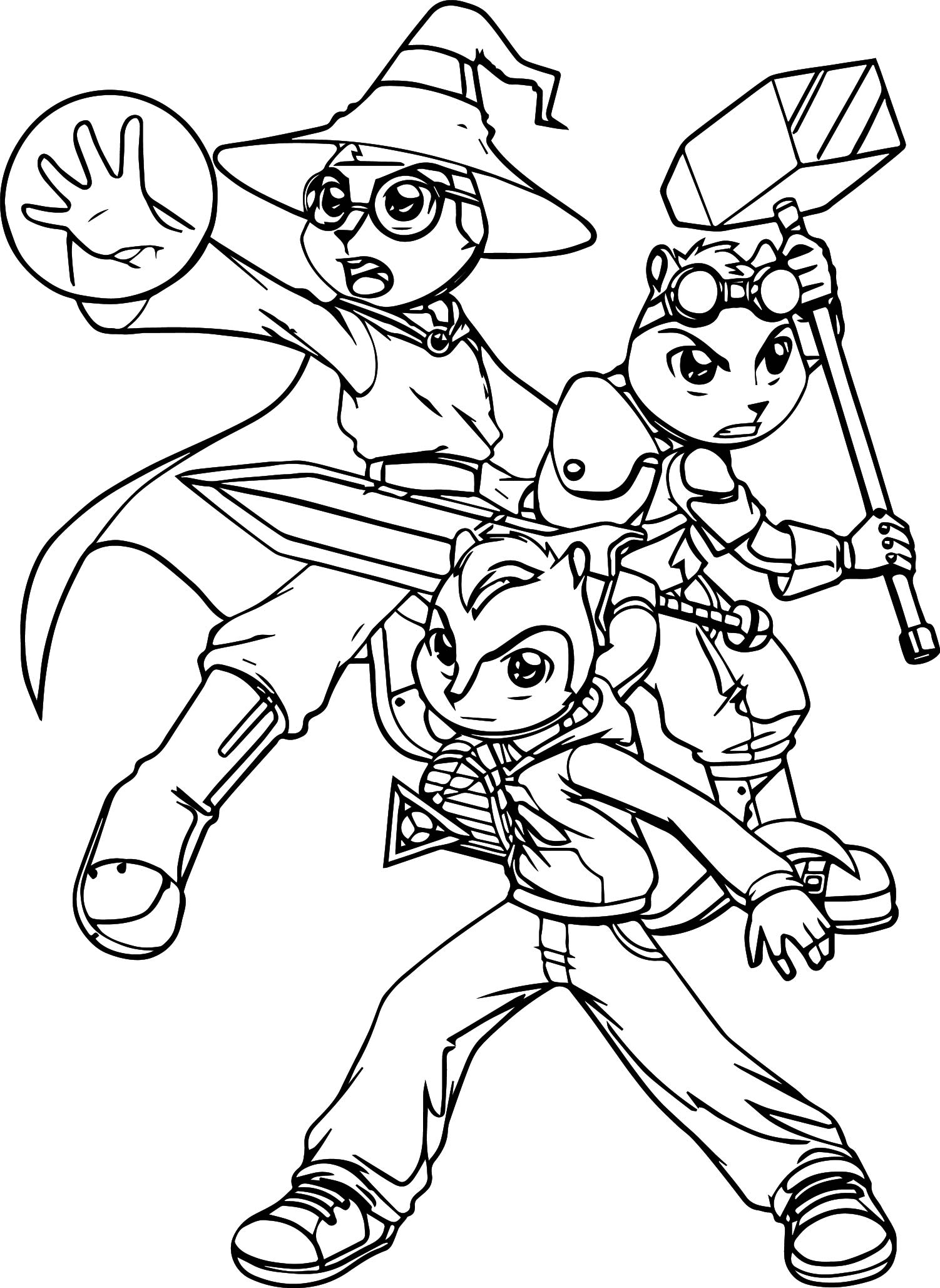 Alvin and the chipmunks trinity force coloring page for Alvin coloring pages