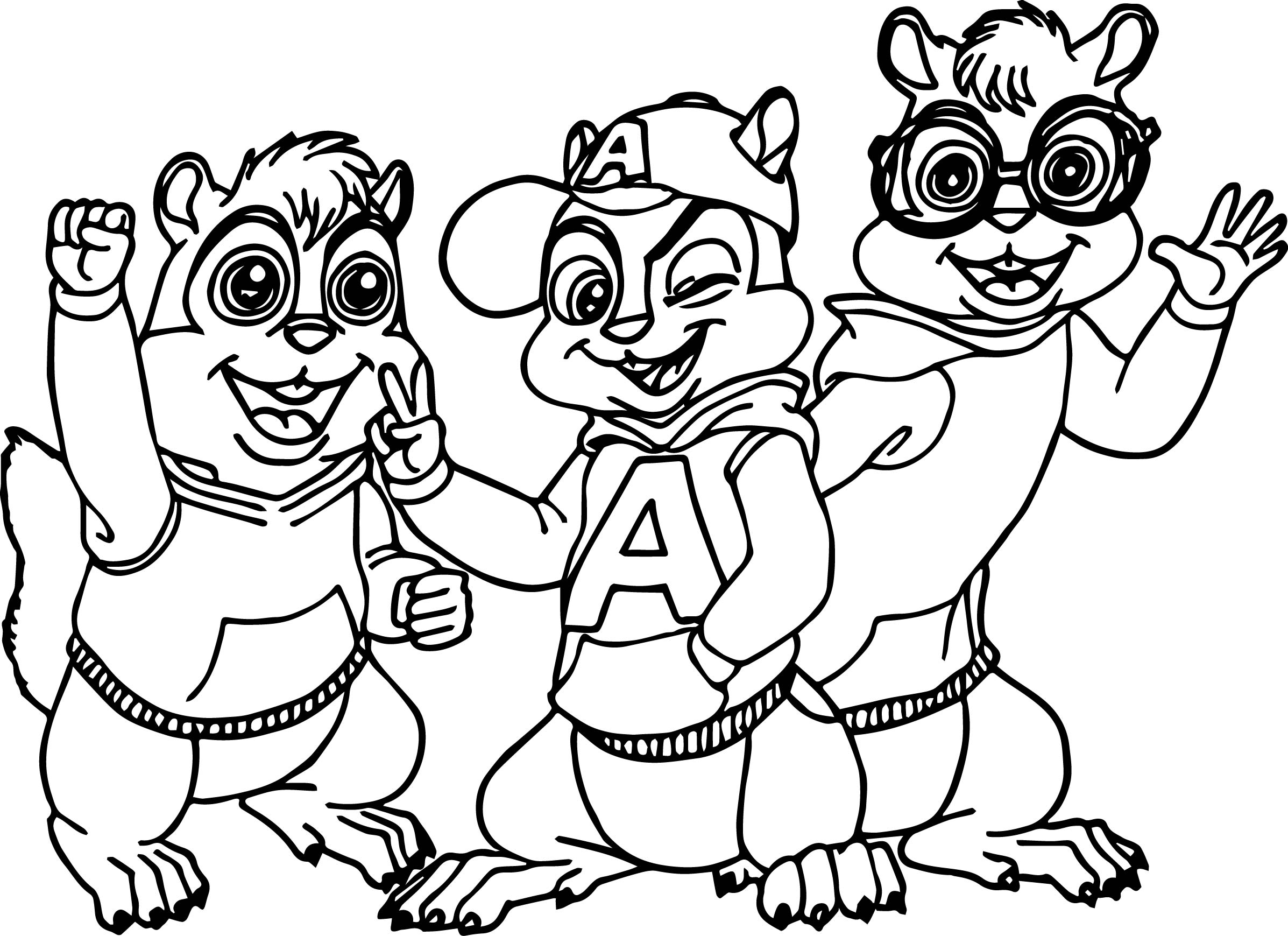 Alvin simon and theodore alvin and the chipmunks coloring for Chipmunks coloring pages