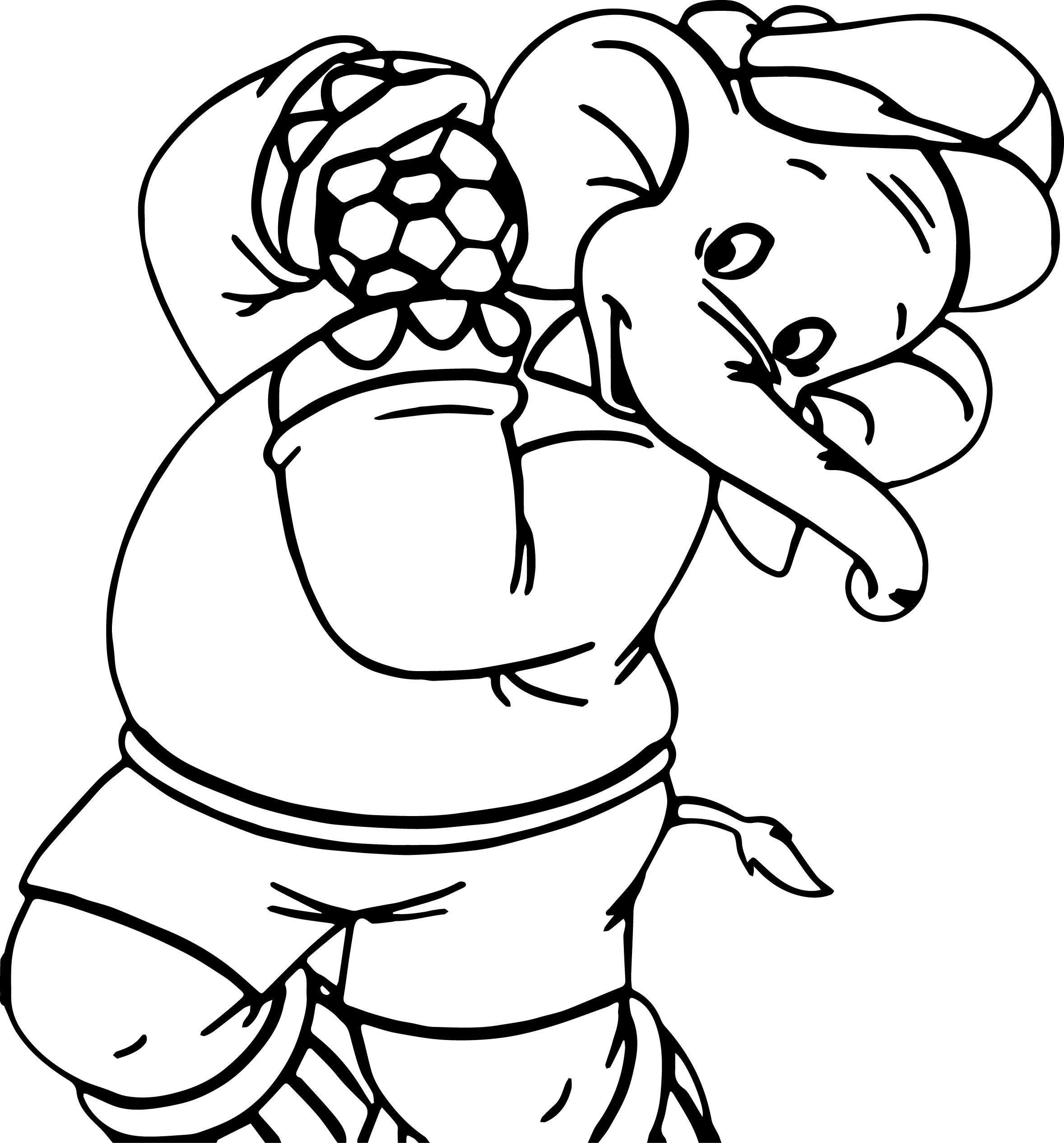 Amazing Elephant Soccer Coloring Page