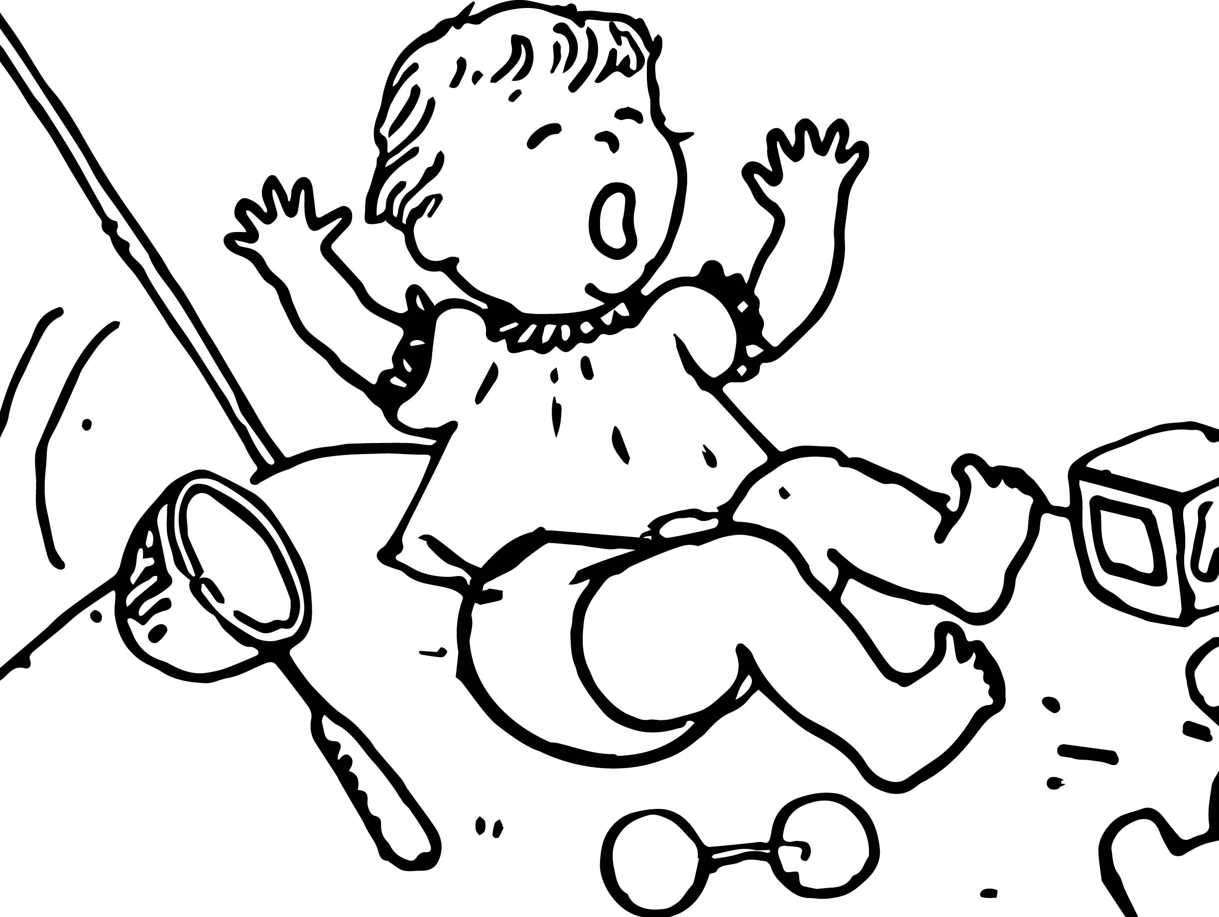 Amelia Bedelia Baby Cry Coloring Page Wecoloringpage