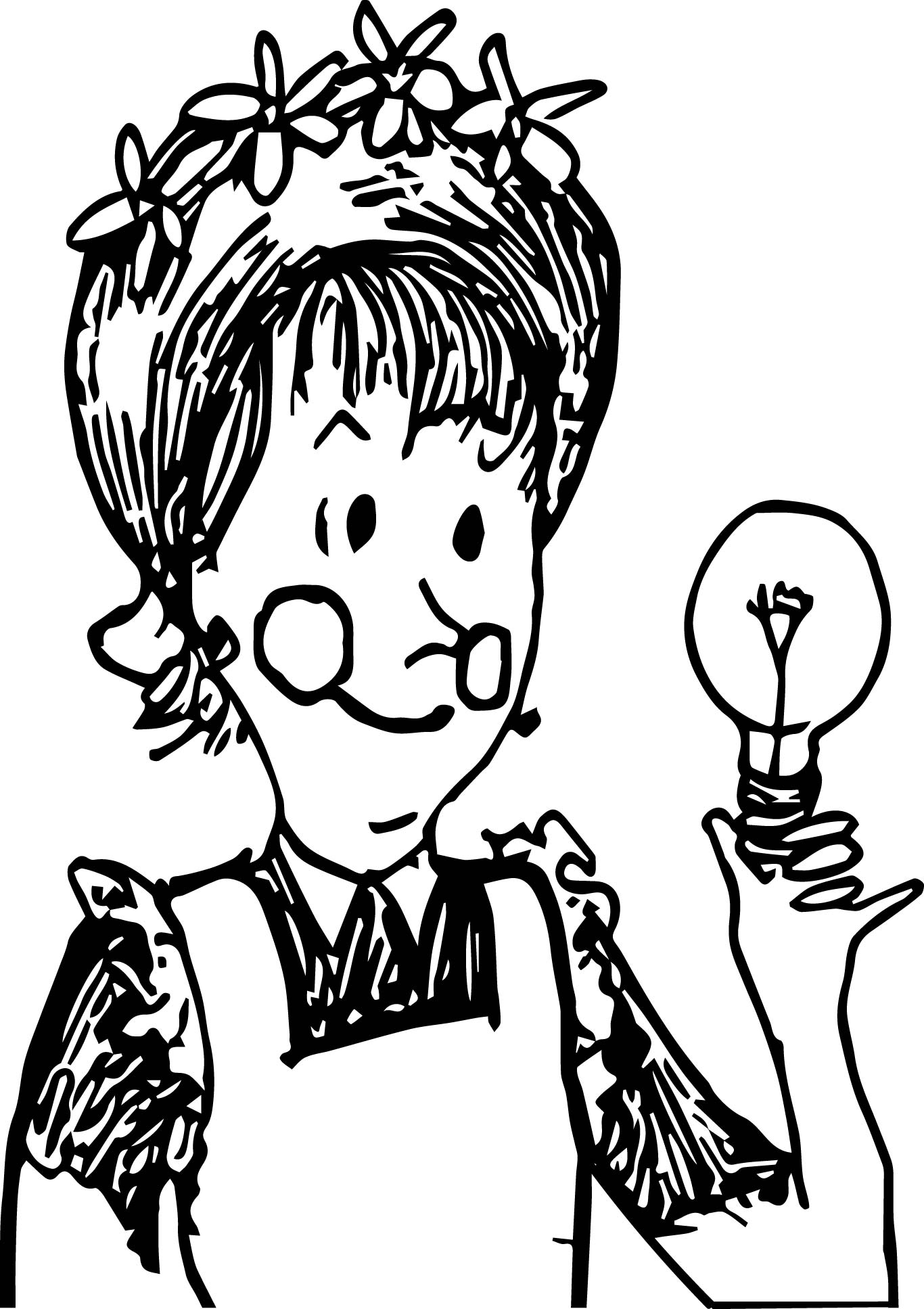 amelia bedelia coloring pages images for adults | Amelia Bedelia Bulb Coloring Page | Wecoloringpage.com