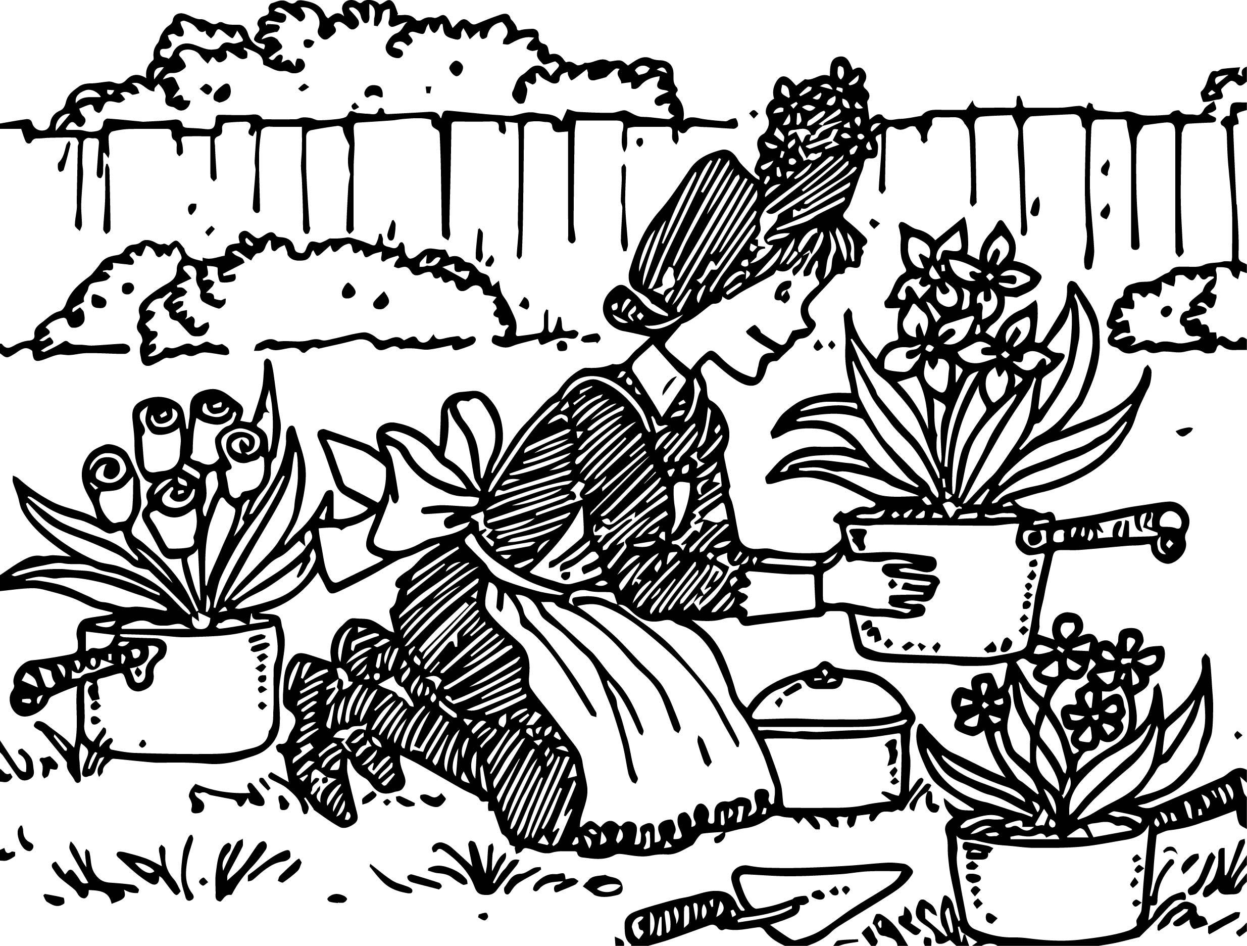 Amelia Bedelia Collage Garden Coloring Page