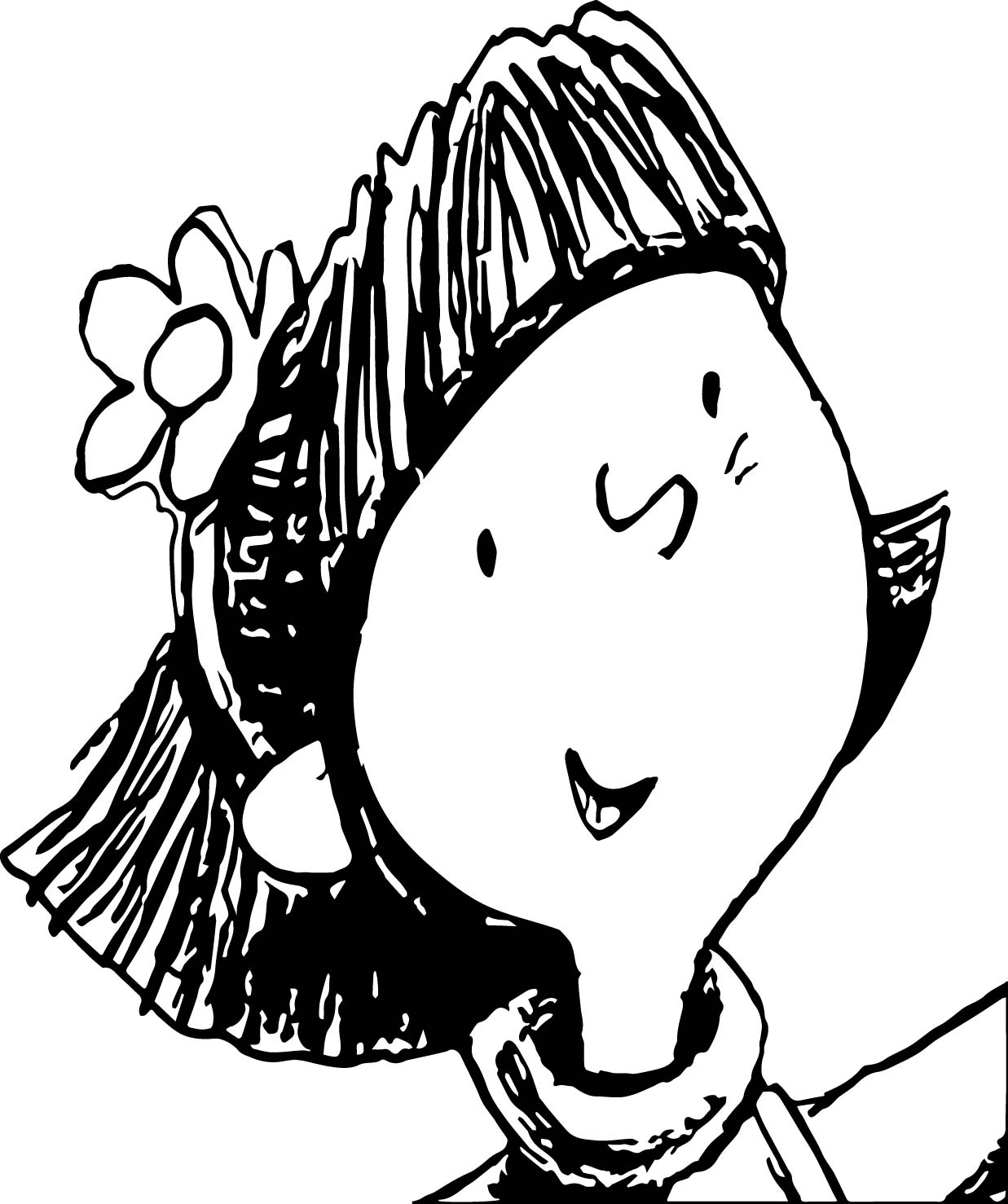 amelia bedelia coloring pages images for adults | Amelia Bedelia Kid Face Oloring Page | Wecoloringpage.com