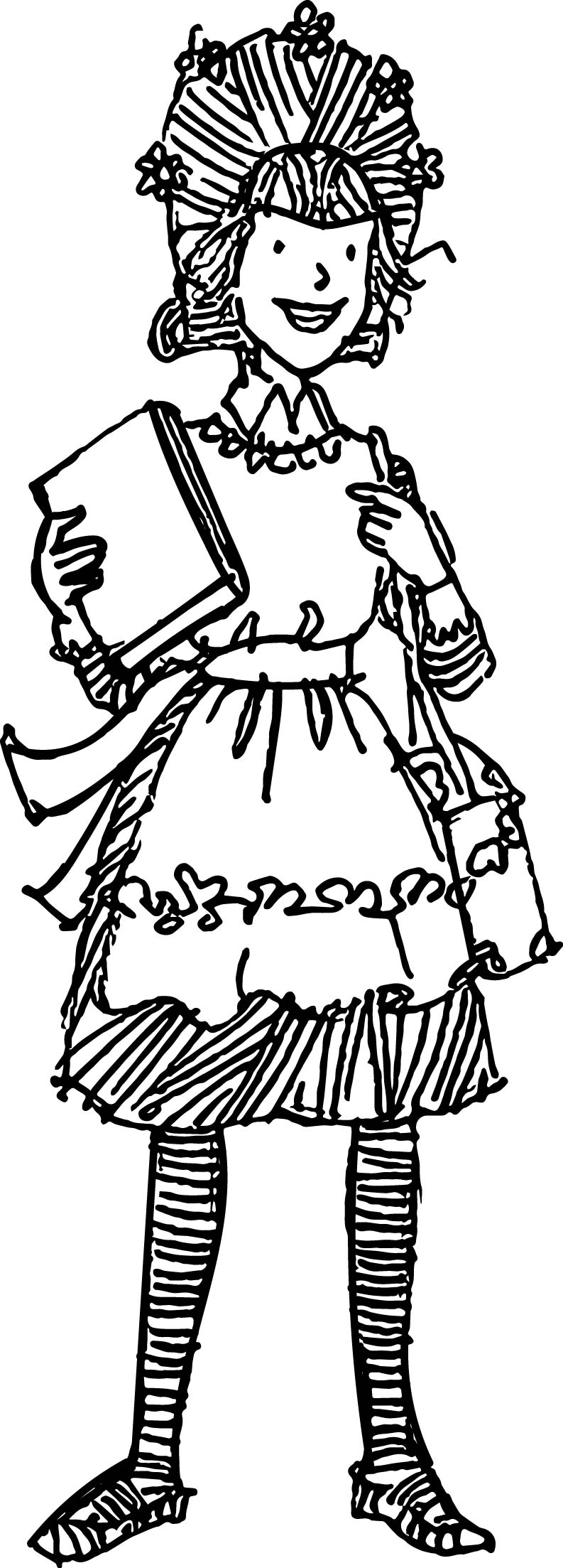 Amelia Bedelia Student Coloring Page