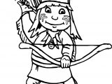 American Arrow And Boy Indian Coloring Page