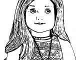 American Doll Lea Closeup Coloring Page