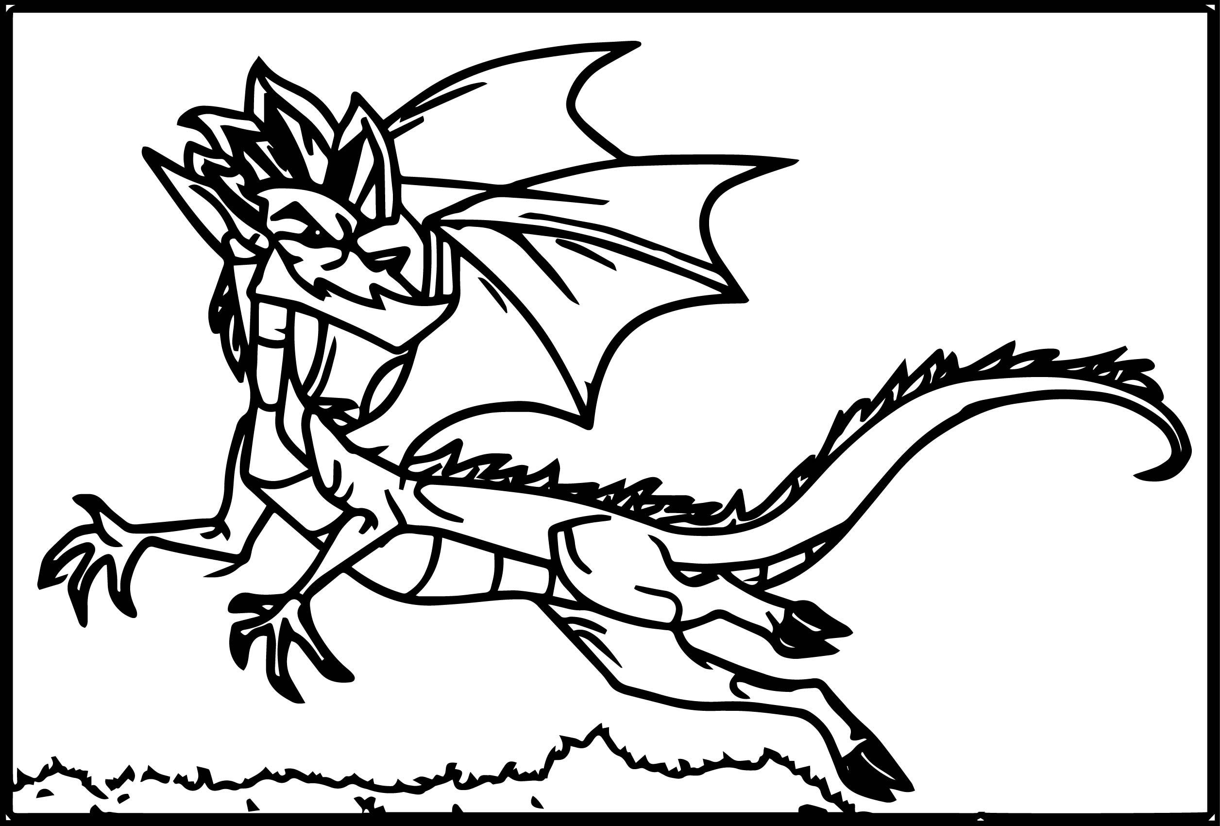 American Dragon Coloring Page