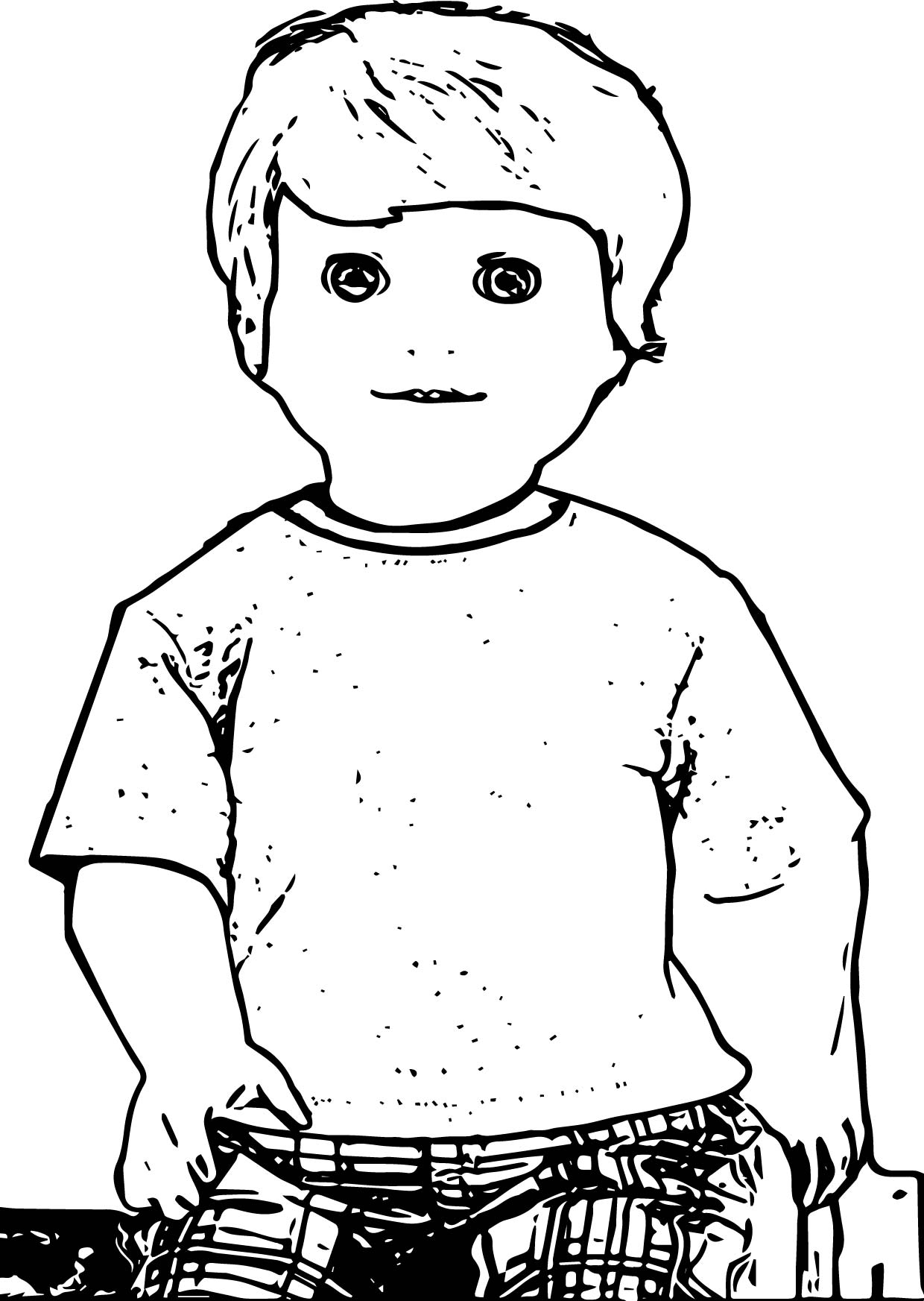 American girl boy doll alden coloring page for Coloring pages girl and boy