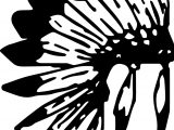 American Indian Black Feather Coloring Page