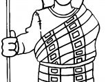 American Indian Cloth Man Coloring Page