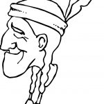 American Indian Old Man Coloring Page