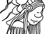 American Indian Sheriff Coloring Page