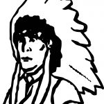 American Indian Sheriff Figure Man Coloring Page