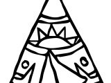 American Indian Tent Coloring Page