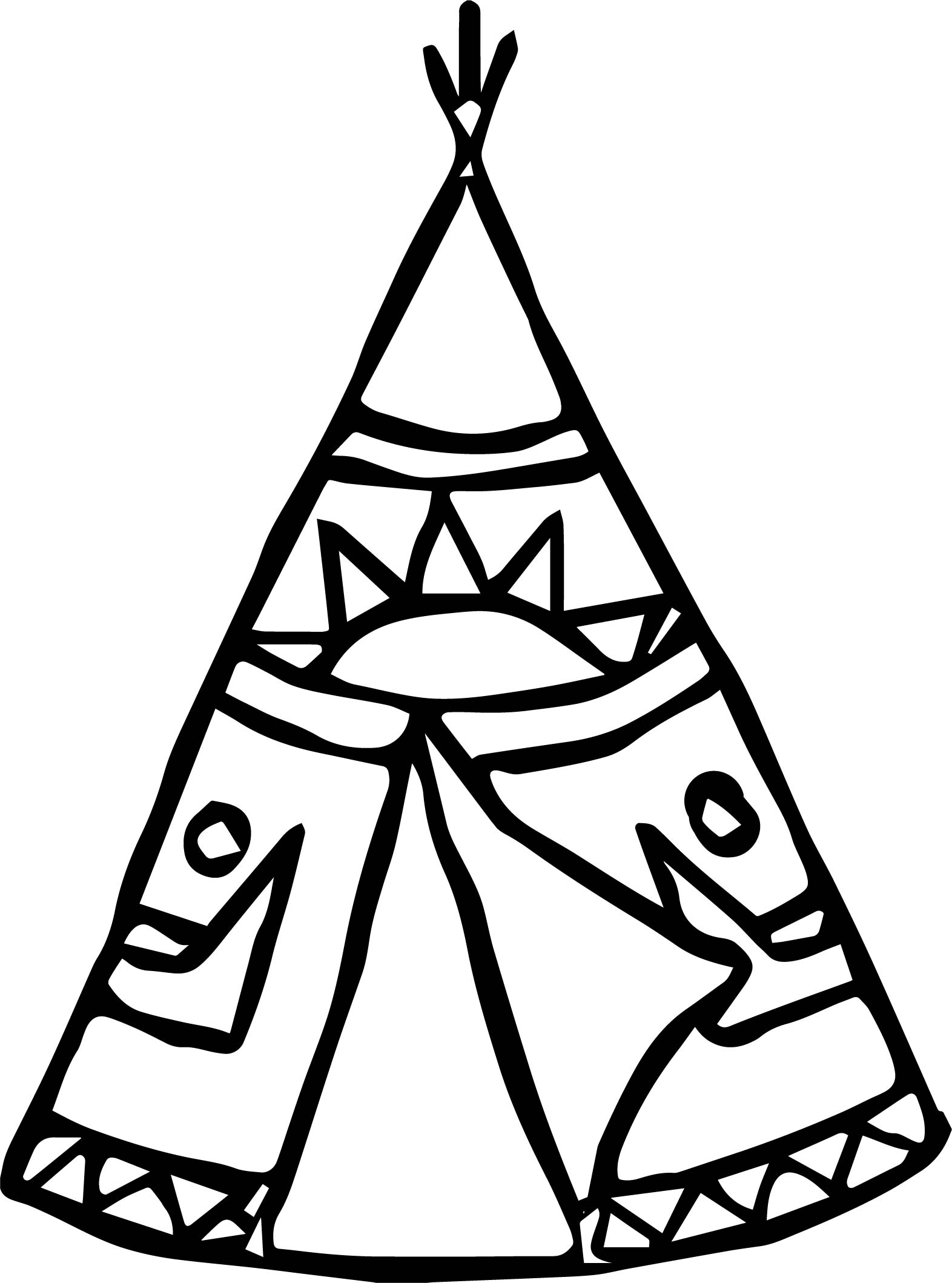 American Indian Tent Coloring Page Wecoloringpage
