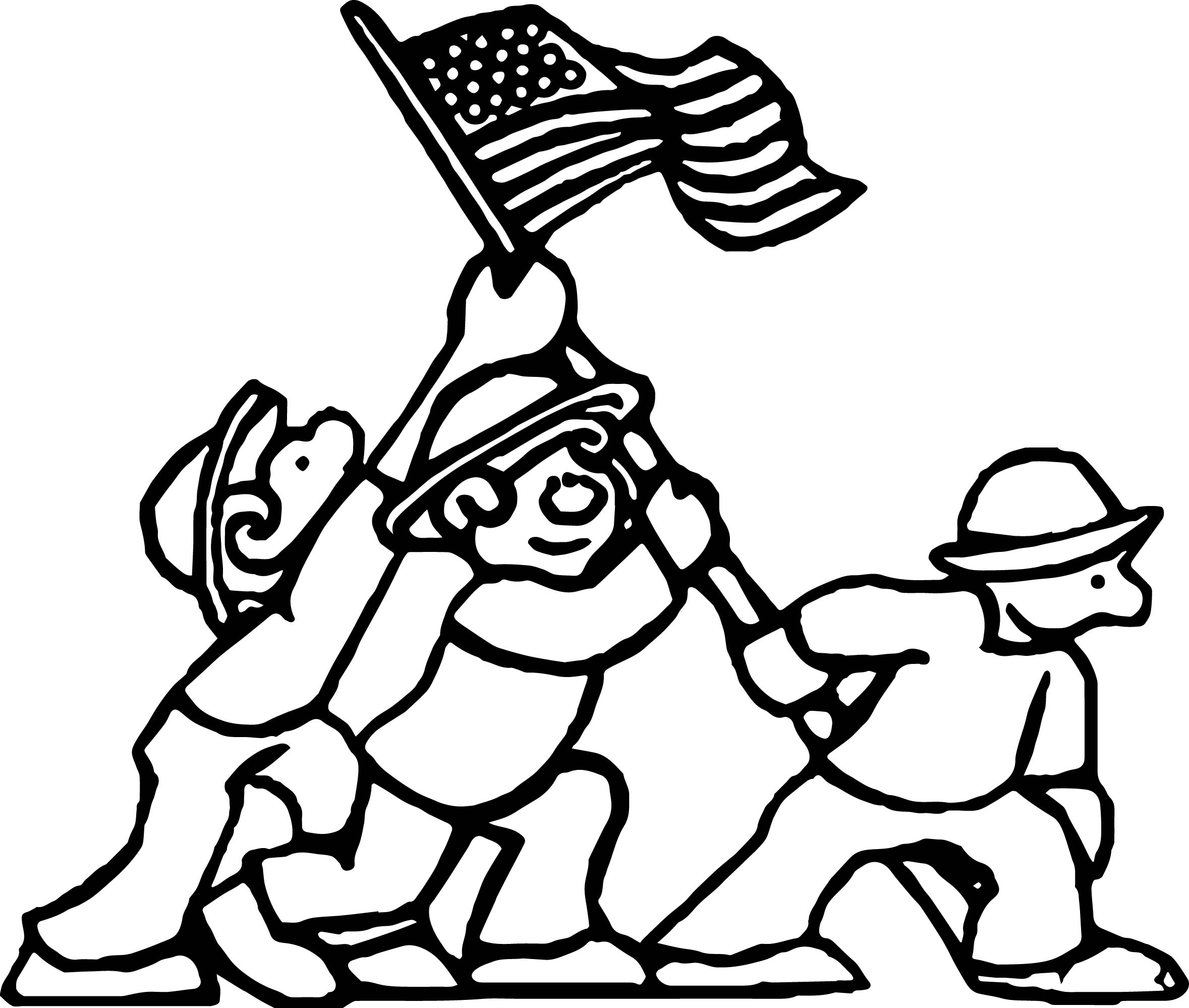 American Revolution American Wars Coloring Page