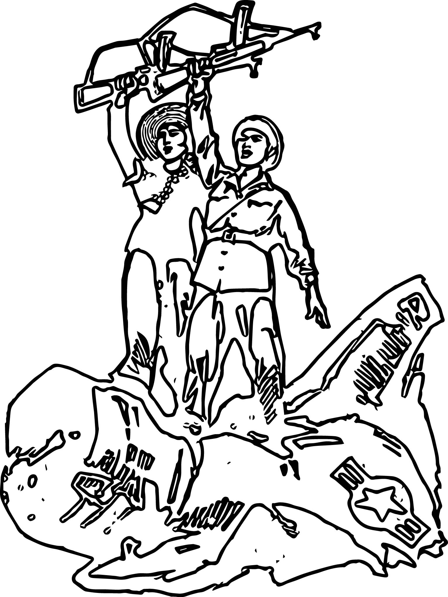American Revolution Antius Graphic Coloring Page