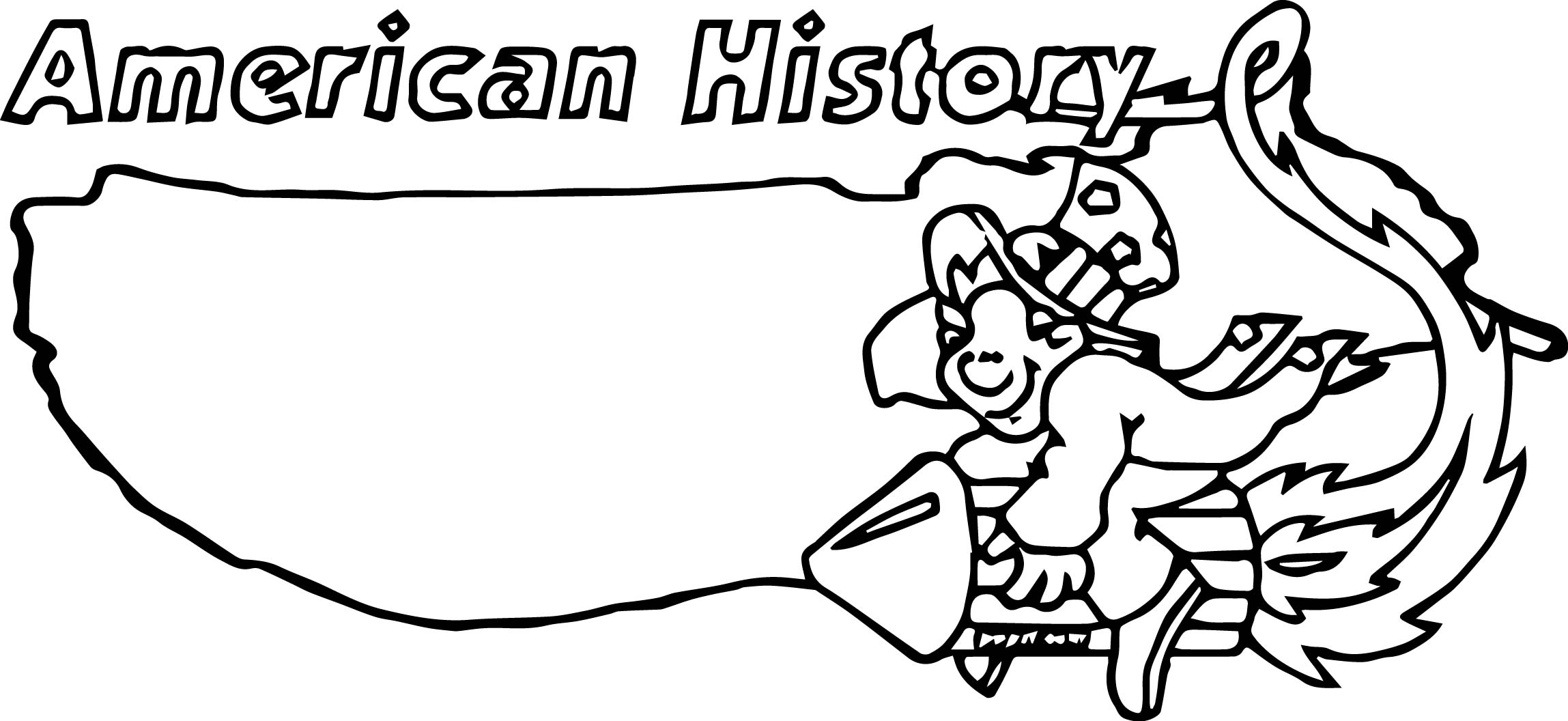 American Revolution Banner American History Coloring Page