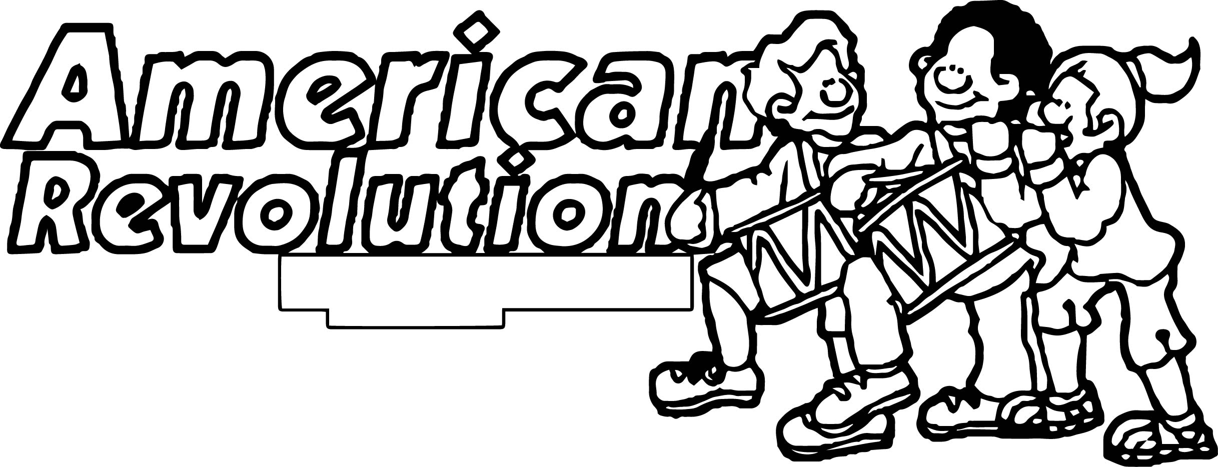 American Revolution Banner American Revolution Coloring Page