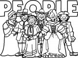 American Revolution Banner Colonial People Coloring Page