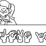 American Revolution Facs Sign Language Coloring Page