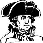 American Revolution George Washington Coloring Page