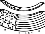 American Revolution Hot Dog American Flag Deco Coloring Page