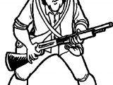 American Revolution Minute Man Revolutionary War Soldier Cartoon Coloring Page