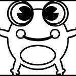 Amphibian Cartoon Frog Coloring Page