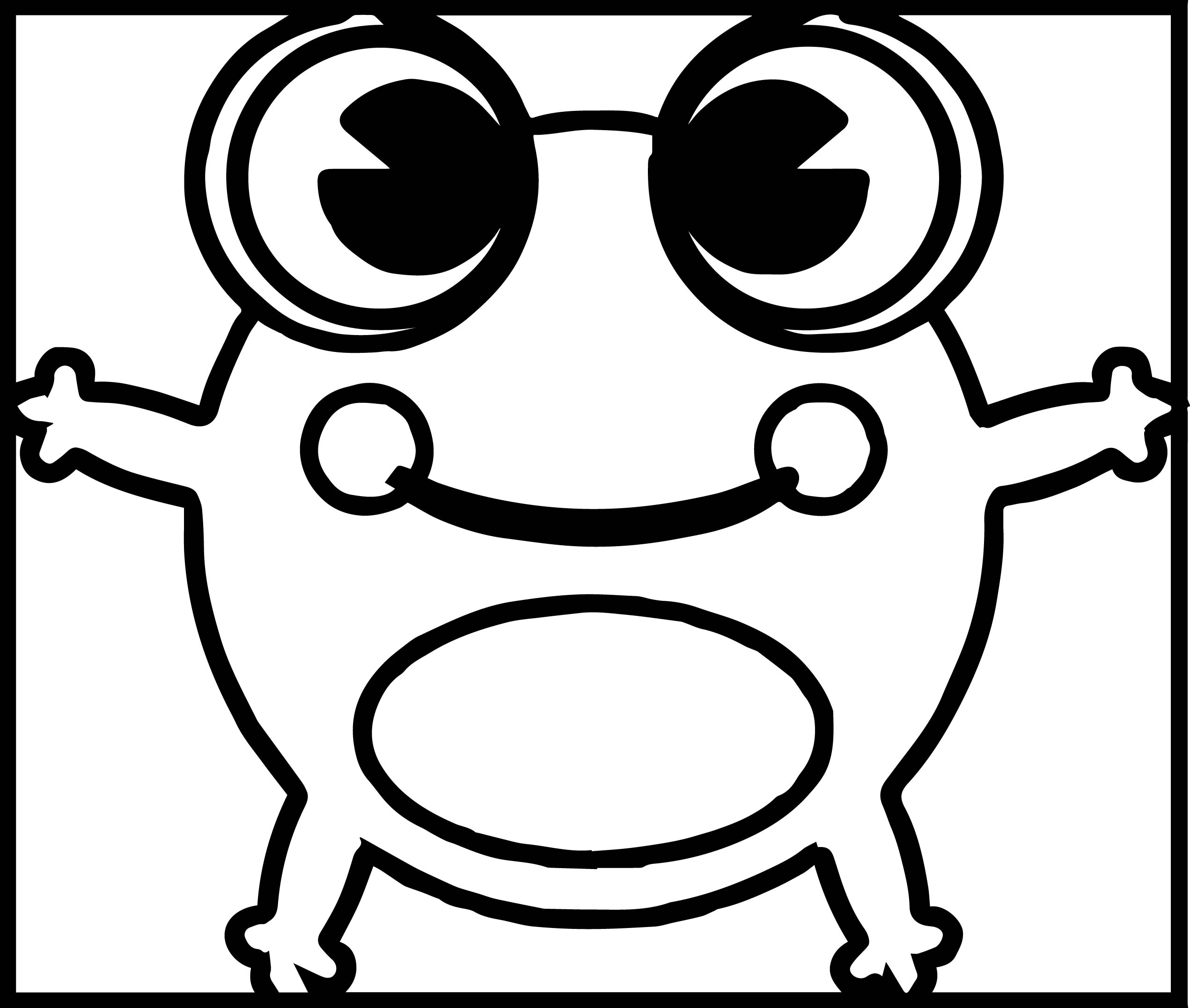 Amphibian Cartoon Frog Coloring Page