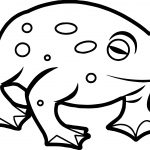Amphibian Waiting Frog Coloring Page