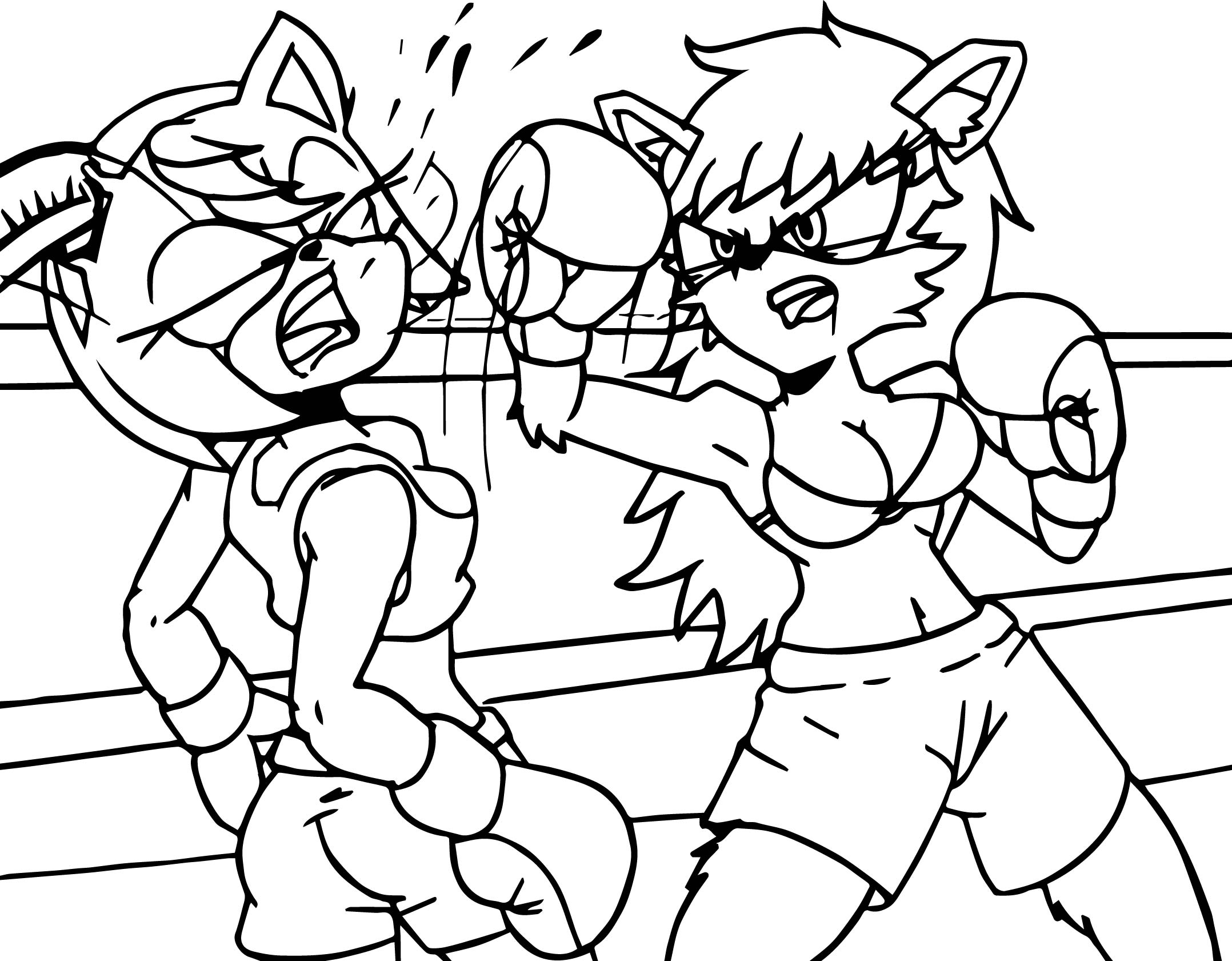 Amy Rose Boxing Coloring Page
