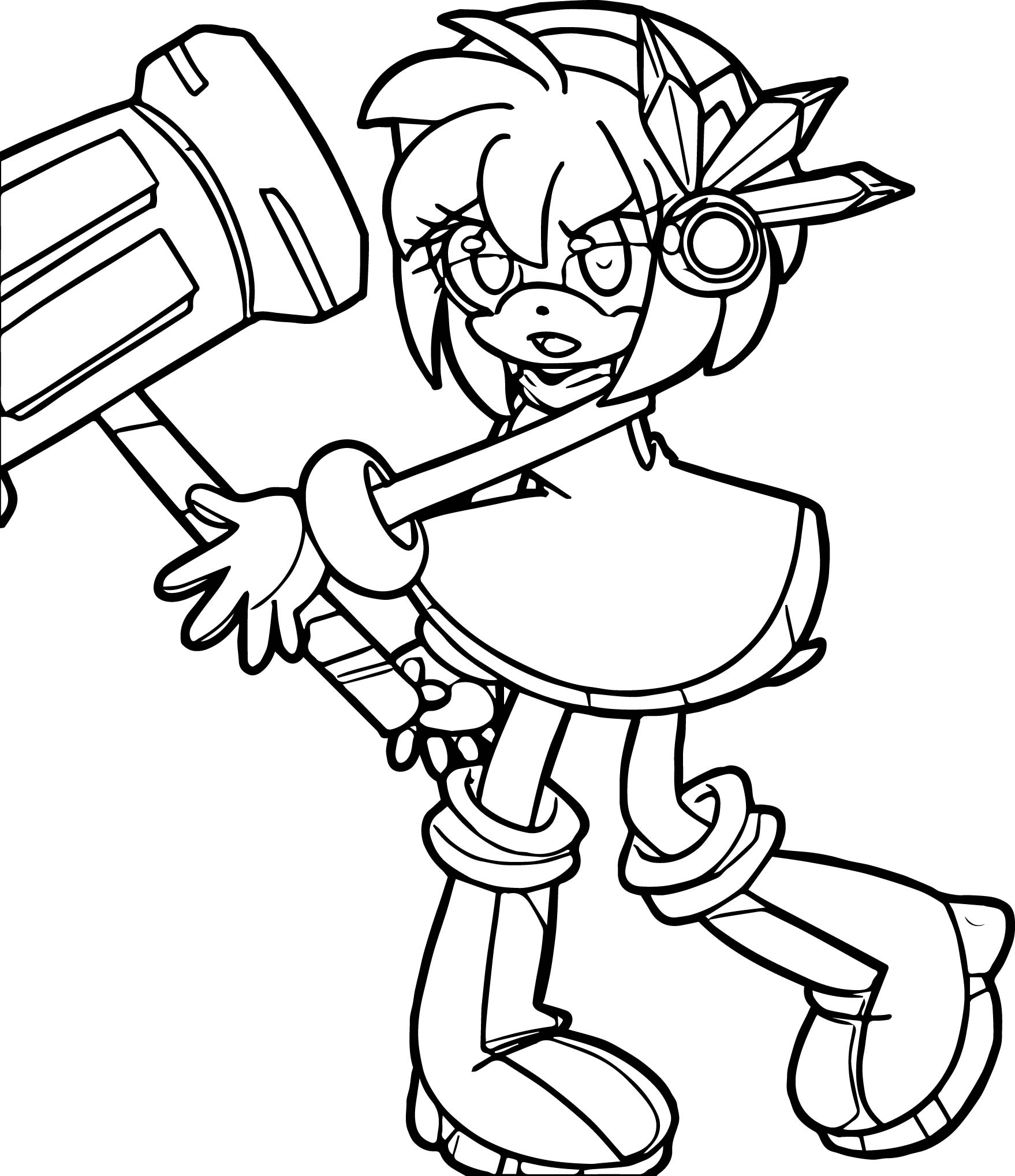 Amy Rose Come Coloring Page
