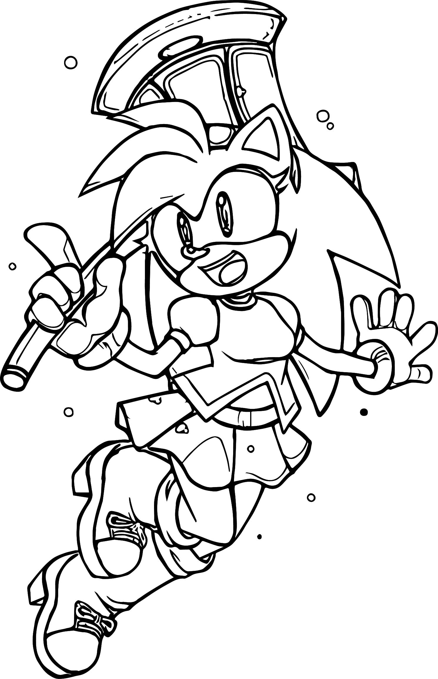 Amy Rose Good Coloring Page