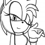 Amy Rose Kiss Coloring Page
