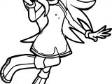 Amy Rose Listen Music Coloring Page