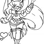Amy Rose Love Girl Coloring Page