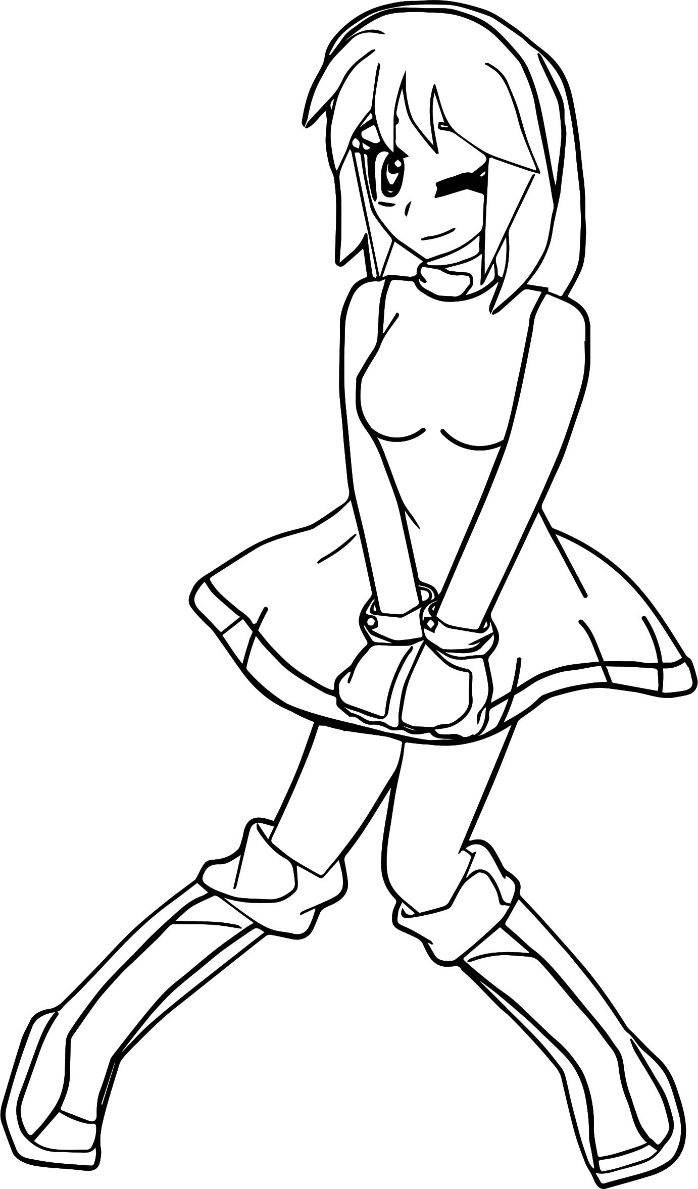 Amy Rose Manga New Coloring Page