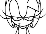 Amy Rose Not Happy Coloring Page