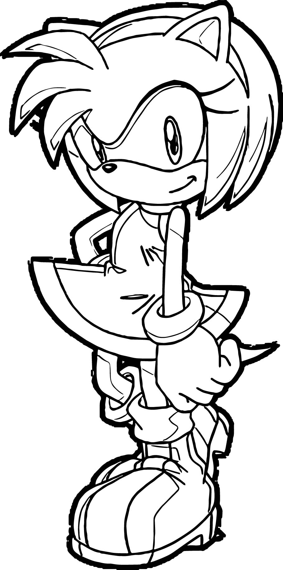 Amy Rose One Coloring Pages Wecoloringpage