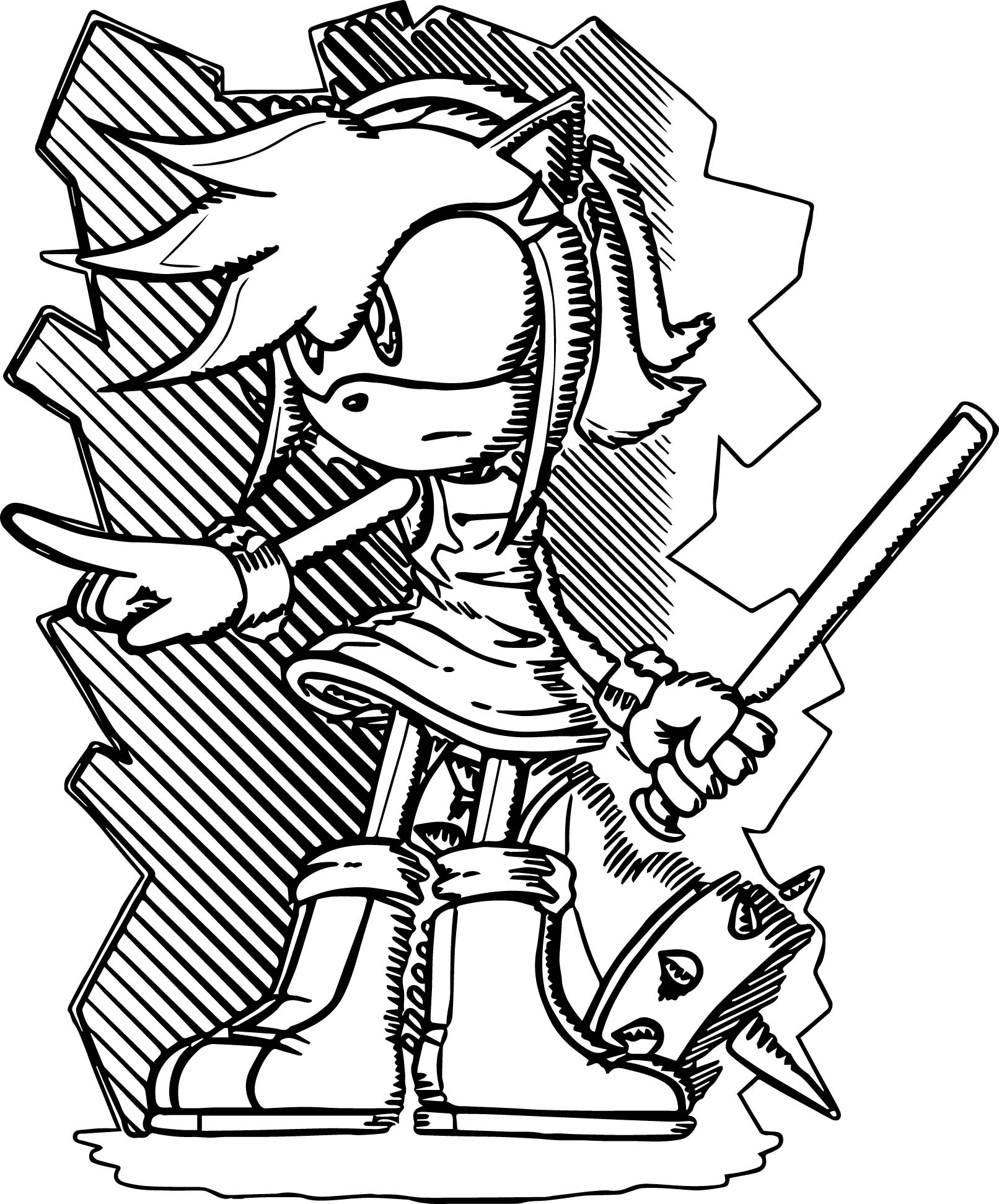 Amy Rose Picture Coloring Page