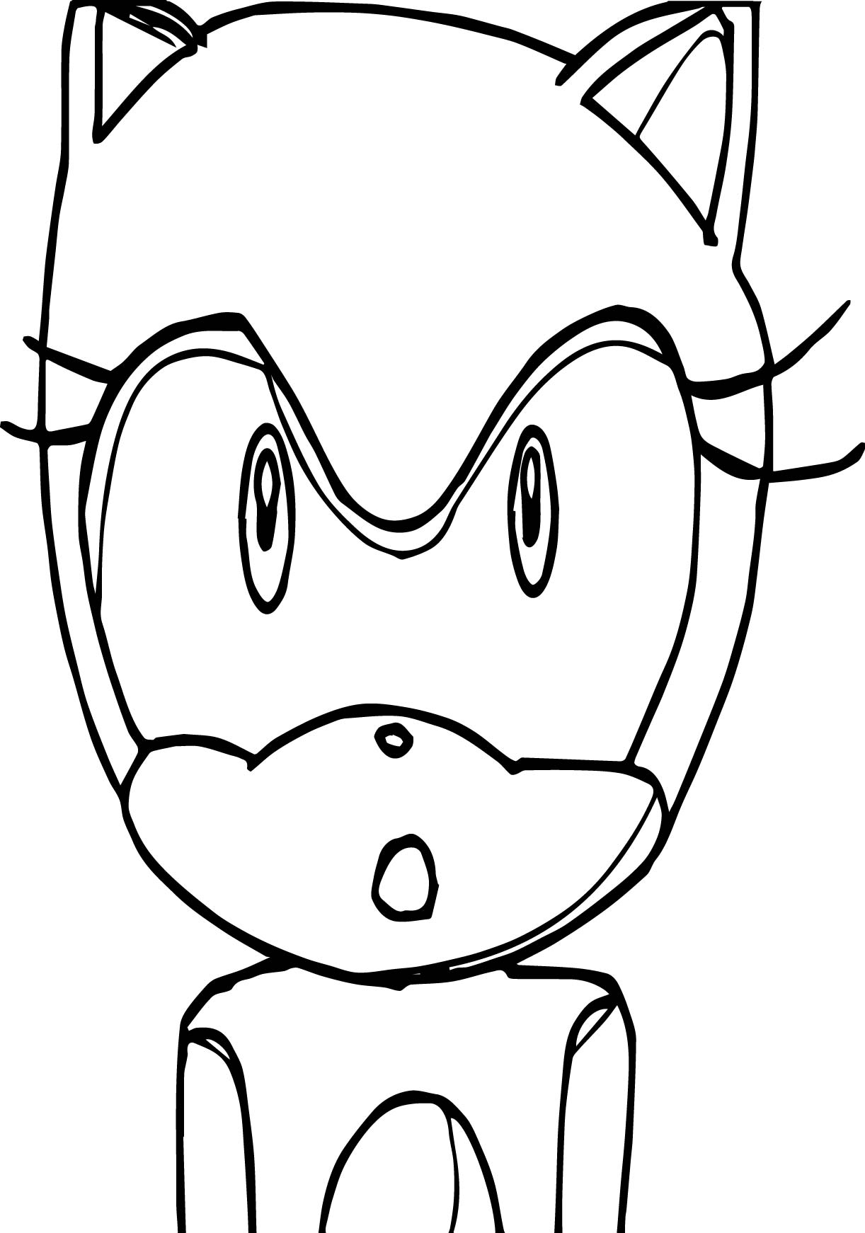 Amy Rose Shock Face Coloring Page
