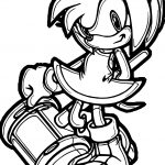 Amy Rose Style Coloring Page