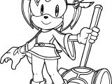 Amy Rose Time Coloring Pages