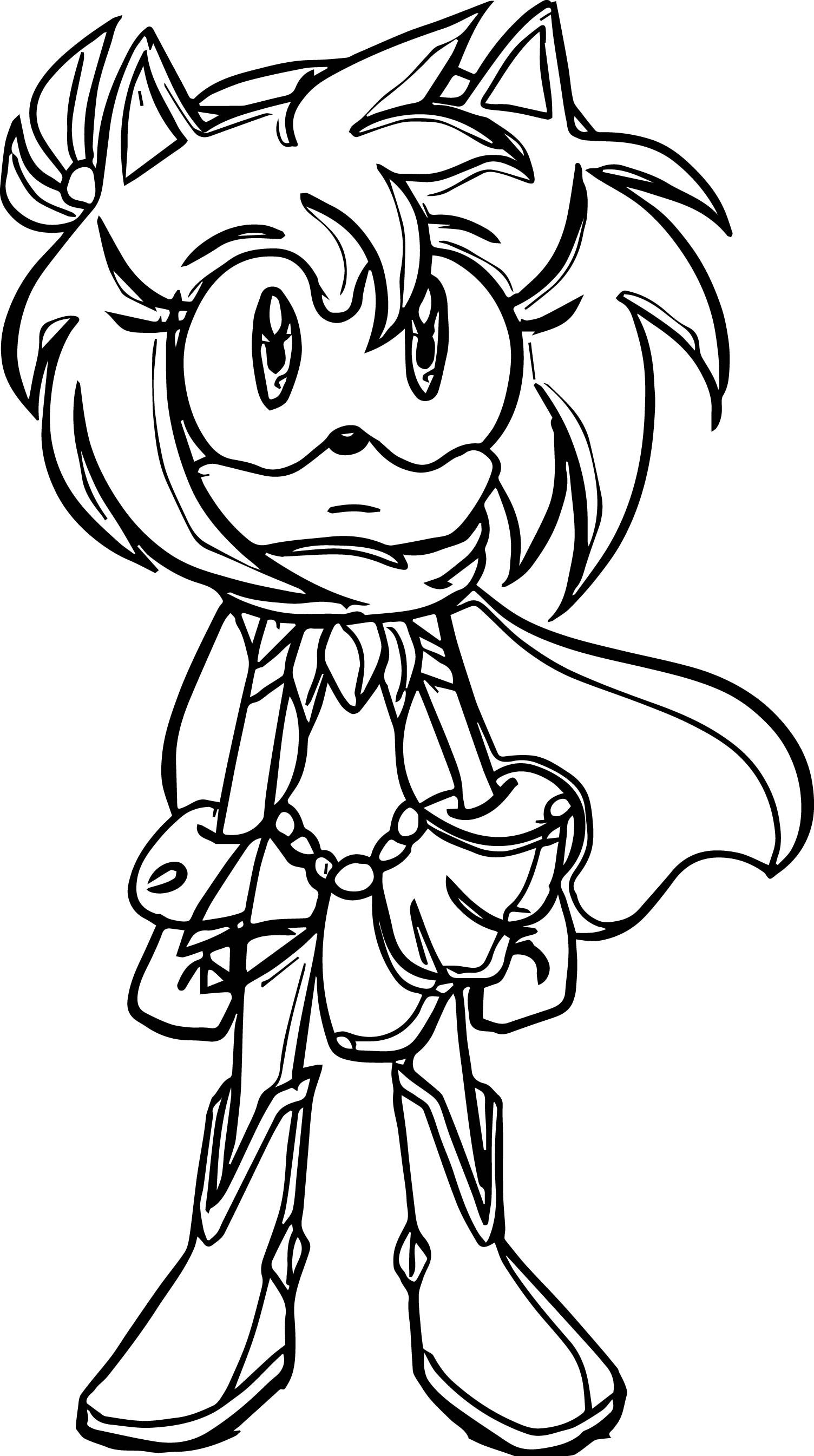 Amy Rose Wind Coloring Page