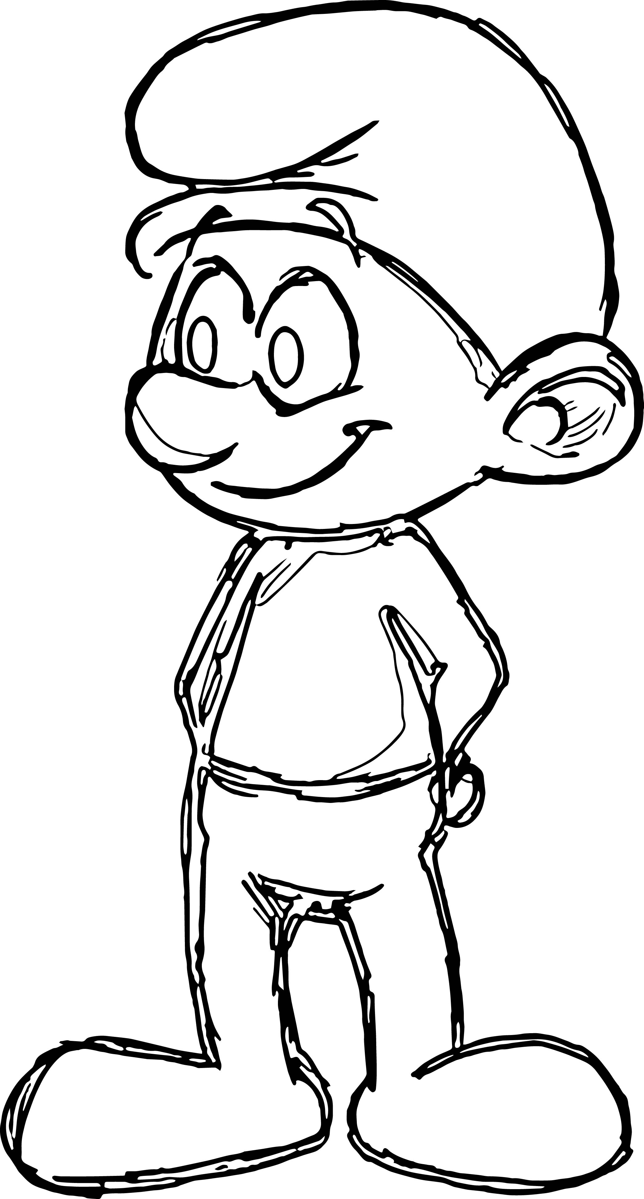 An Sketch Little Smurf Coloring Page