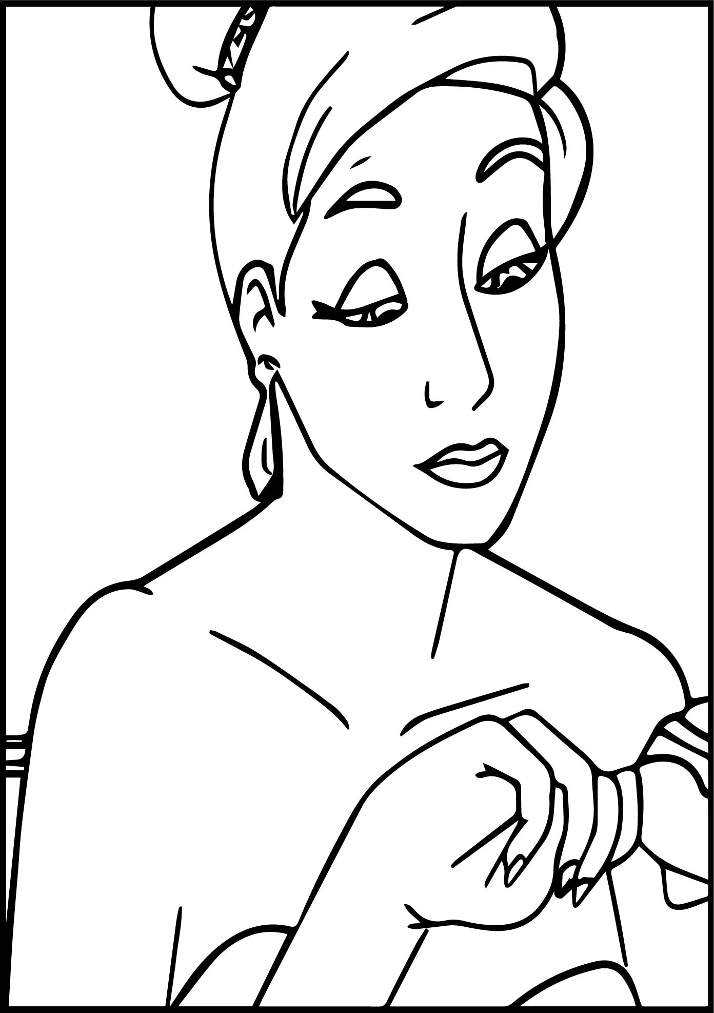 Anastasia Table Coloring Page | Wecoloringpage
