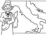 Ancient Map Coloring Page